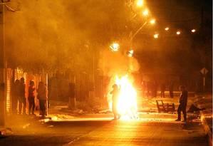 Distúrbios em santiago na madrugada do 11 de Setembro chileno Foto: El Mercúrio