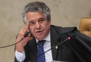 Ministro Marco Aurélio de Mello vota contra os embargos infringentes Foto: André Coelho / Agência O Globo