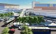 Integração. A nova estação teria cobertura e rampas de acesso ao terminal rodoviário e ao BRT