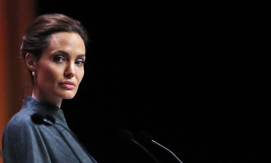 Angelina Jolie discursa em conferência Foto: Lefteris Pitarakis / AP