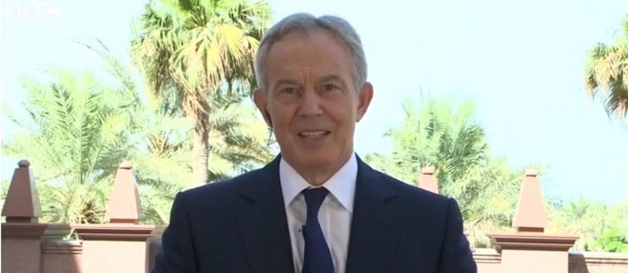 Tony Blair deu entrevista à TV britânica neste domingo Foto: Reprodução