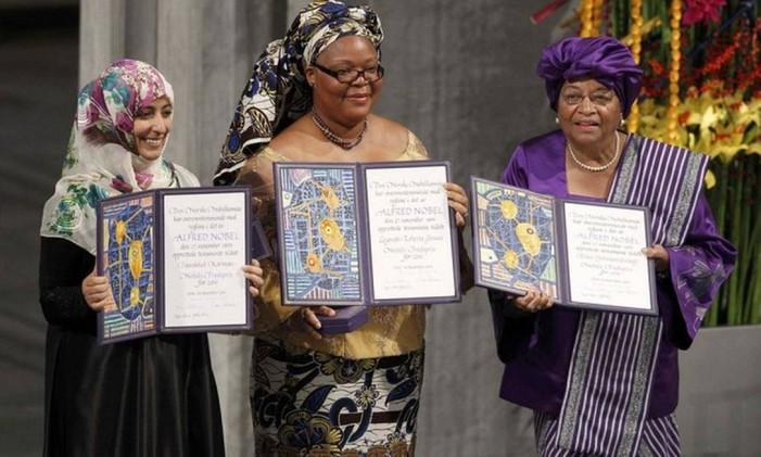 Ellen Johnson Sirleaf, Leymah Gbowee e Tawakkul Karman Foto: Reuters