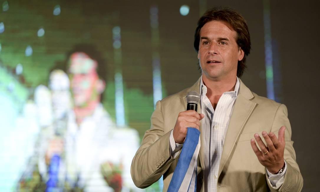 Candidato a presidente do Partido Nacional do Uruguai, Luis Lacalle Pou Foto: Matilde Campodonico / AP