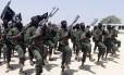 Soldados do Al-Shabaab em treinamento na Somália