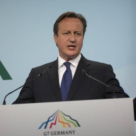 Premiê britânico, David Cameron, dá ultimato a ministros: ou apoiam referendo sobre a União Europeia, ou deixam o governo Foto: Virginia Mayo / AP