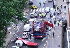 Atentados em julho de 2005 criaram pânico em Londres Foto: Reprodução