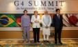 Presidente Dilma Rousseff durante reunião de Cúpula do G4