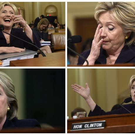 Hillary Clinton passou por 11 horas de depoimento sobre ataque em Bengazi Foto: O Globo