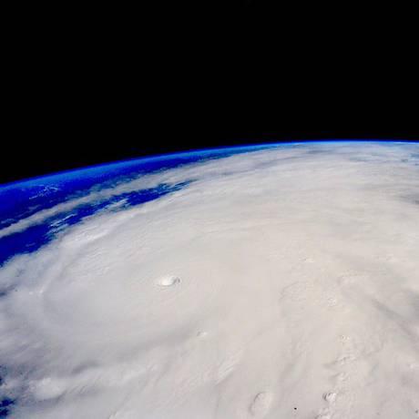 Furacão Patrícia visto da Estação Espacial Internacional Foto: NASA / Reuters