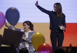 Mauria Eugenia Vidal derrota o candidato kirchnerista Aníbal Fernandez, na eleição regional da província de Buenos Aires Foto: Jorge Saenz / AP