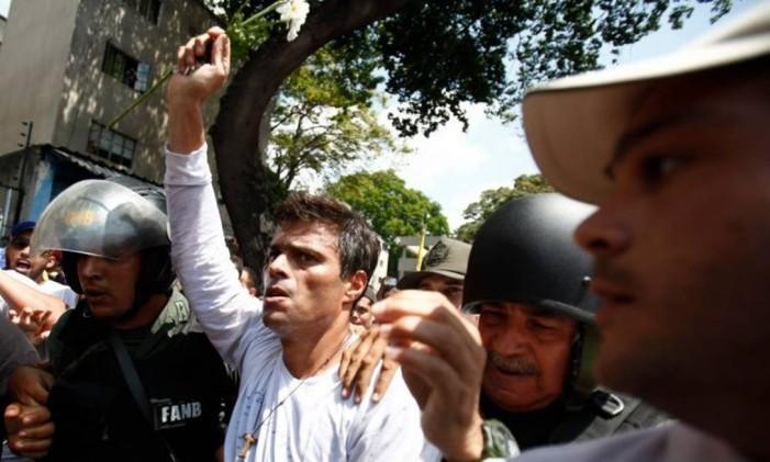López foi preso uma semana depois, no dia 18 de fevereiro Foto: AP