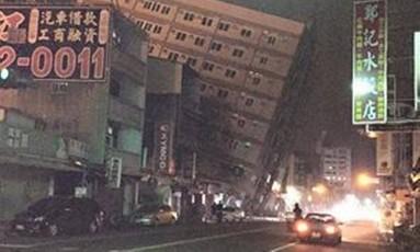 Terremoto atinge cidade de Tainan, no sul de Taiwan Foto: Reprodução/Twitter