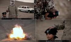Vídeo mostra jihadi junior detonando carro com três prisioneiros do Estado Islâmico Foto: Reprodução