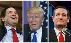 Partido republicano tem Ted Cruz, Donald Trump e Marco Rubio na disputa presidencial Foto: Reuters / REUTERS