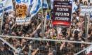 Israelenses protestam em apoio a soldado suspenso Foto: JACK GUEZ / AFP