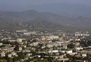 A principal cidade de Nagorno Karabakh, Stepanakert Foto: REUTERS