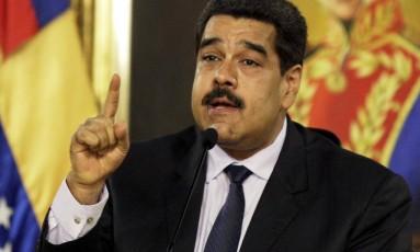 Nicolás Maduro, presidente da Venezuela Foto: MARCO BELLO / REUTERS