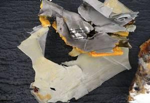 Destroços do avião da Egyptair foram encontrados no mar Mediterrâneo Foto: Exército egípcio