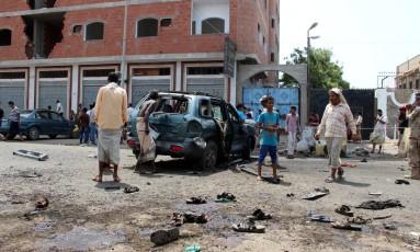 Centro de Áden foi vítima de atentado suicida Foto: FAWAZ SALMAN / REUTERS