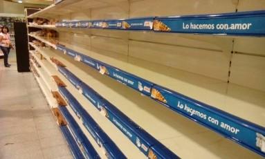 Falta de comida e medicamentos cresce na Venezuela Foto: JUAN BARRETO / AFP