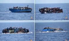 O momento do naufrágio Foto: AFP