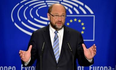 Presidente do Parlamento europeu, Martin Schulz Foto: Eric Vidal / Reuters
