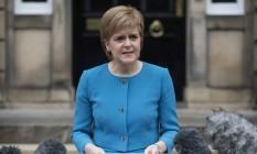 Nicola Sturgeon, líder do Partido Nacional Escocês (SNP) Foto: OLI SCARFF / AFP