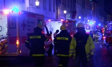 Socorristas ocupam local em Ansbach Foto: REUTERS TV / REUTERS