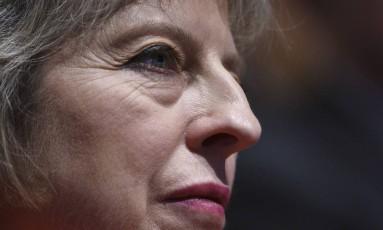 Premier britânica Theresa May Foto: Oli Scarff / AFP