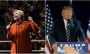 Hillary Clinton e Donald Trump Foto: AFP