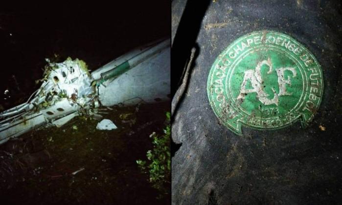 Resultado de imagem para avião do time do chapecoense cai 76 mortos