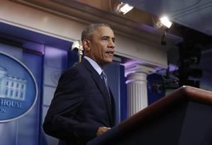 Em sua última coletiva como presidente dos EUA, Obama elogiou o papel da imprensa Foto: Carolyn Kaster / AP