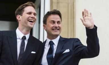 Gauthier Destenay e Xavier Bettel: juntos desde 2010, casados desde 2015 Foto: AP
