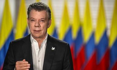 O presidente colombiano, Juan Manuel Santos Foto: HO / AFP/Presidencia