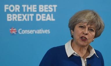 A primeira-ministra do Reino Unido, Theresa May Foto: Paul Ellis / AFP
