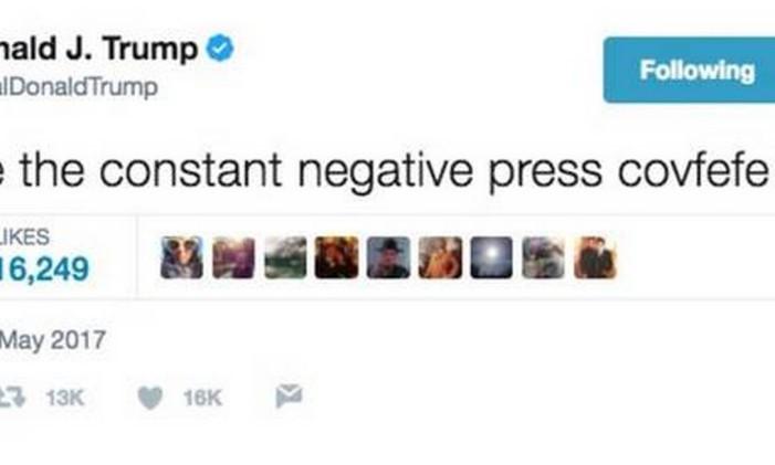 'Covfefe': internautas especulam sobre intenção de Trump na mensagem Foto: Reprodução