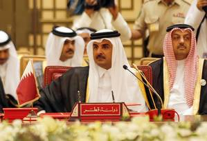 O emir do Qatar, Sheikh Tamim bin Hamad al-Thani Foto: STRINGER / AFP