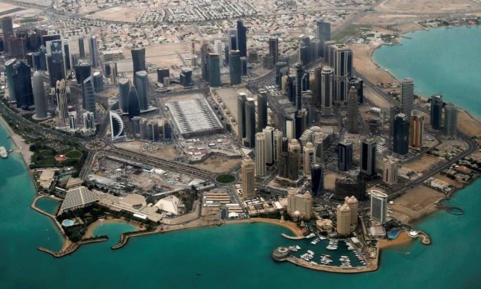 Vista aérea do distrito diplomático de Doha Foto: Fadi Al-Assaad / REUTERS