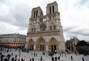Catedral de Notre Dame, em Paris Foto: Charles Platiau / Reuters