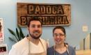 Guilherme e Gabrielle Casara Pellin: irmãos estão à frente de uma padaria brasileira que virou referência em Montreal Foto: Henrique Gomes Batista