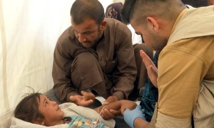 Intoxicação alimentar em massa em campo de refugiados iraquianos