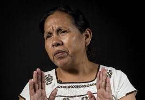 María de Jesus Patricio, primeira mulher indígena a tentar concorrer eleições para presidente no México Foto: Omar Torres / AFP