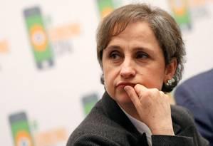 Jornalista mexicana Carmen Aristegui Foto: Henry Romero / Reuters