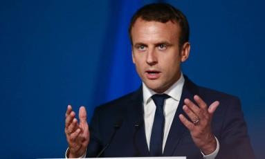 O presidente da França, Emmanuel Macron Foto: AFP