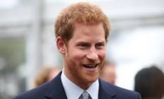 O príncipe britânico Harry, terceiro na linha de sucessão do trono do Reino Unido Foto: David Moir / AFP