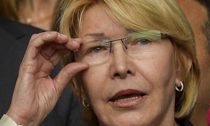 A procuradora-geral da Venezuela, Luisa Ortega Foto: LUIS ROBAYO / AFP