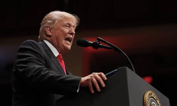 O presidente dos Estados Unidos, Donald Trump Foto: Carolyn Kaster / AP
