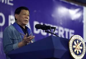O presidente das Filipnias, Rodrigo Duterte Foto: Divisão de Fotografia da Presidência das Filipinas / AFP
