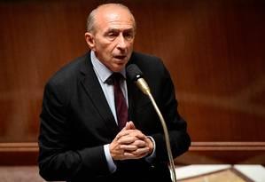 O ministro do Interior da França, Gérard Collomb Foto: Martin Bureau / AFP