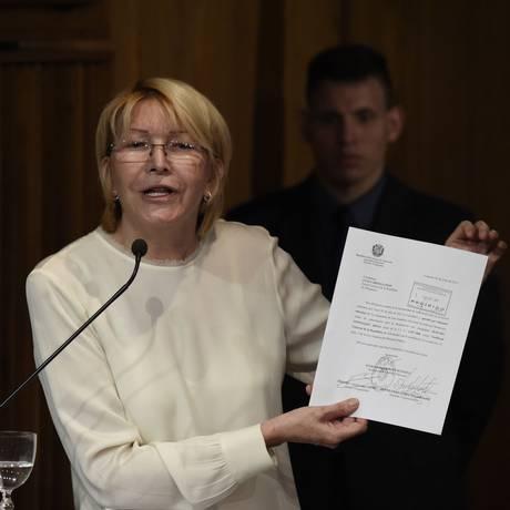 A procuradora-geral da Venezuela, Luisa Ortega Foto: JUAN BARRETO / AFP
